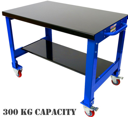 Tradequip Mobile Steel Workbench 300KG