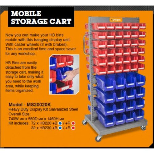 MS20020K Geiger Industrial Multifunctional Mobile Storage Unit