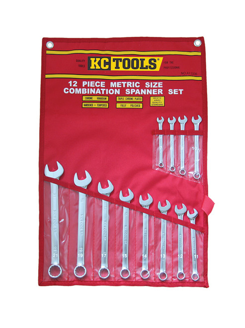 KC TOOLS 12PCE METRIC COMBO SPANNER SET A13336