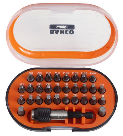 Bahco 31 pieces Alloy Steel Screwdriver Bit Set