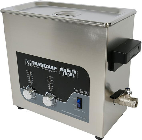 Tradequip Commercial Size Ultrasonic Parts Cleaner 36 Litre