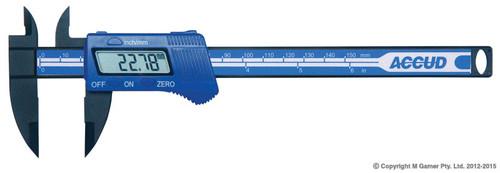 """Accud 150mm (6"""") Light Weight Digital Vernier Caliper"""