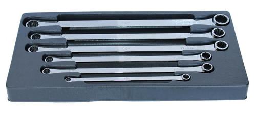 SP Tools Long Zero Degree Offset 6pc Metric Ring Spanner Set