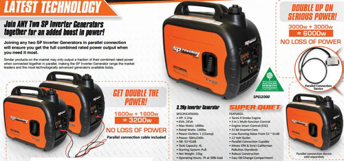 SP Tools 4.3hp Inverter Generator SPGi3000