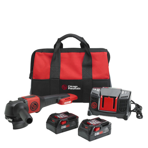 New Chicago Pneumatic Angle Grinder Kit With 2 x 4.0Ah Batteries