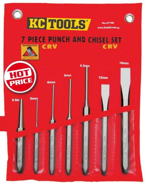 KC Tools 7pce Heavy Duty Punch & Chisel Set.