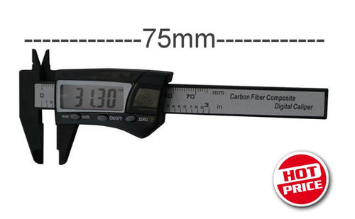 WorkForce 75mm Pocket LCD Carbon Composite Vernier