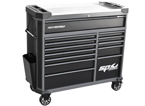 SP Tools Tech Series Roller Cabinet 13 Drawer Diamond Black.