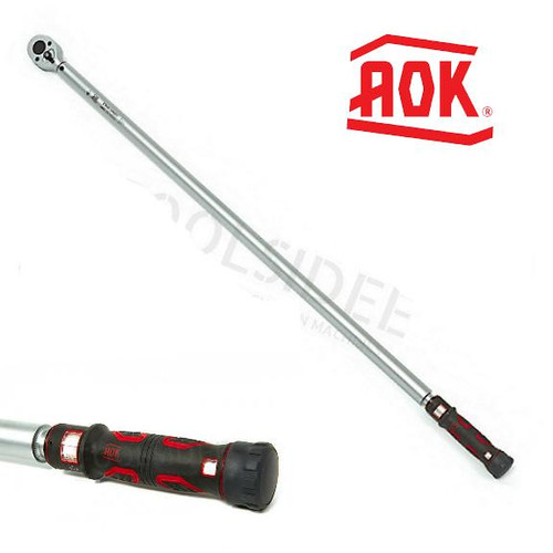 """AOK 3/4""""  Heavy Duty Torque Wrench Dual Scale 50-300ft lbs"""