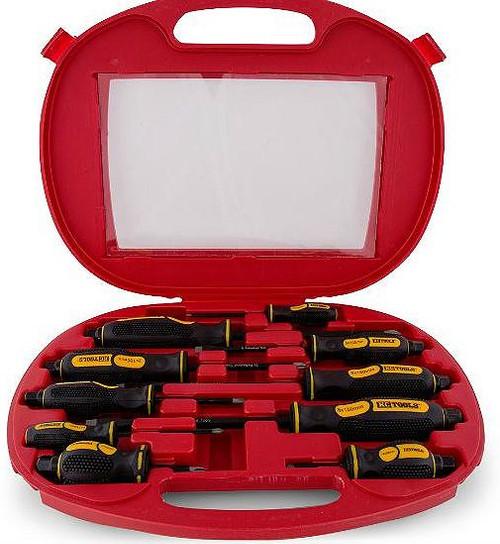 KC Tools 10 Pce Go Thru Screwdriver Set