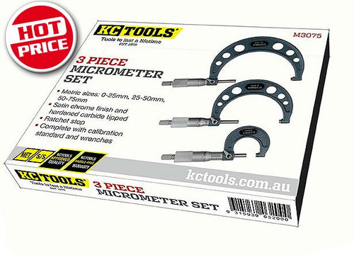 KC Tools Trade Series Outside Micrometer Set Clearance Price