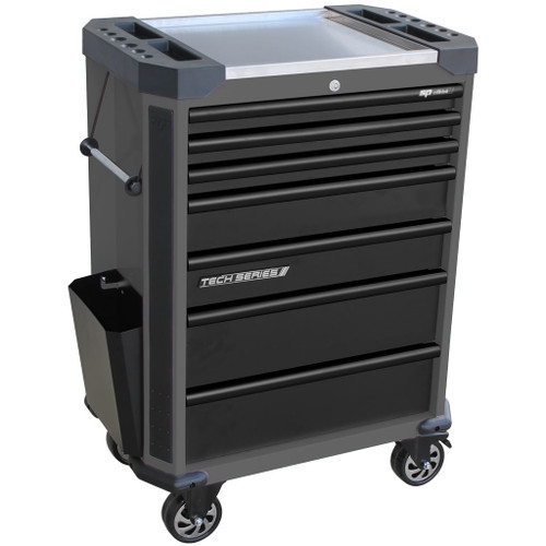 SP Tools Tech Series  Roll Cabinet 7 Drawer Diamond Black