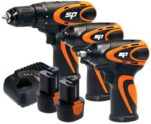 SP Tools 12V Max Drive 3pce Mechanics Power Combo Kit