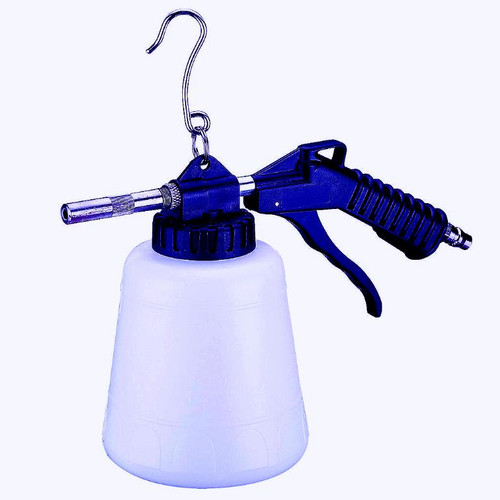 Adjustable nozzle assures that the amount of sand can be regulated as required When the handle is activated, the airflow sucks the sand up out of the container and is ejected from nozzle at high speed