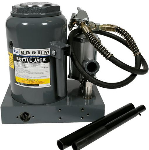 Borum Industrial Duty Bottle Jack Air/Hydraulic 50,000kg
