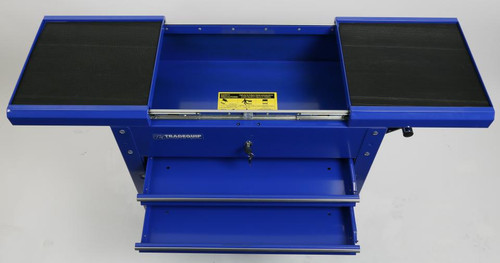 Tradequip Tool Cart 2 Drawer & Lockable Sliding Top.