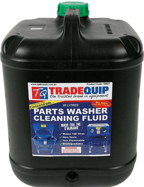Compatible with all Tradequip Ultrasonic Parts Cleaners. 20Litres makes 100Litres