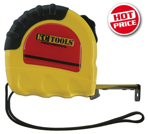 KC TOOLS TAPE MEASURE DUAL SCALE 10M 25MM WIDE.