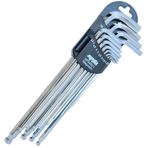SP Tools Magnetic Ball Drive Allen Key Set Metric 13Pce