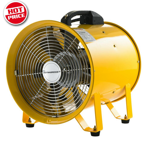 2 in 1 Blows or extracts Powerful 2800rpm, 180w motor & Air Delivery 25m3/min Heavy duty safety grille and anti vibration mounts Portable with robust carry handle and on/off safety switch Suitable for ventilating workshops and small areas