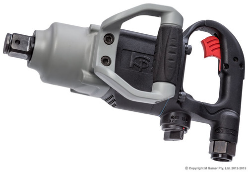 "Weight just 5.8 Kg! Ultra lightweight 1"" Impact wrench Delivers 1600 Ft/lbs of Max torque in reverse Best power-to-weight ratio in the range Single dial for forward and reverse, with integrated 3 position power stops Left mounted side handle with integrated rubber grip D Handle with internal trigger Hole through anvil for socket attachment"