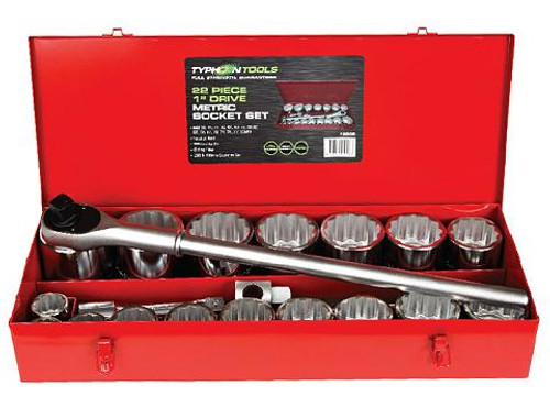 "Typhoon 22pce AF1"" Drive Socket Set Sizes up to 80mm"
