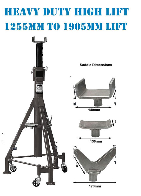Borum 7000KG Heavy Duty Extra High Lift Auxiliary Stand