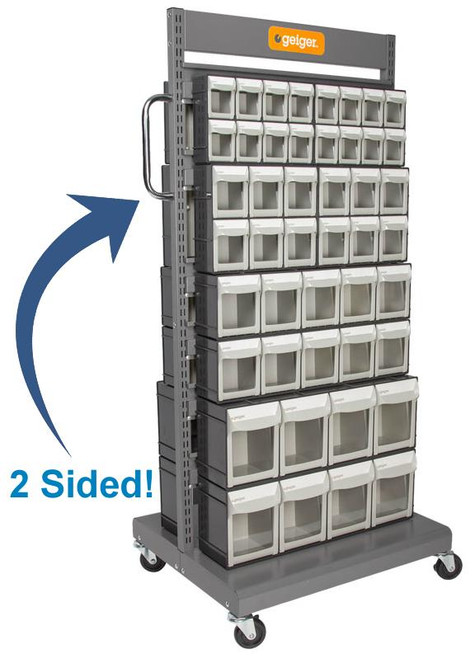 Includes  4 x FO308 4 x FO306 4 x FO605 4 x FO604 Pivot Drawers Trolley size: 690W MM x 560D MM x 1460H MM Max capacity: 150 Kg Acid and oil resistant.