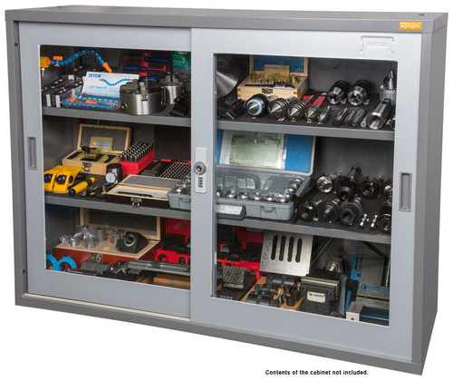 Create more display areas in the showroom! Perfect for the showroom or where lockable storage is required. Cabinets feature key & combination pin lock, sliding doors for easy access in confined spaces and 2 adjustable shelves.