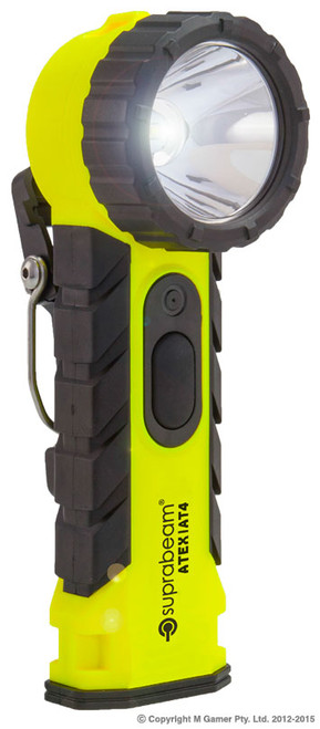 Intrinsically Safe Lamp • High efficiency heat-sink • Pocket Clip Brightness: 200 Lumens IP Rating: Waterproof IP54 Dimensions: 183x69x63 mm Battery: 4 x AA Weight: 250g