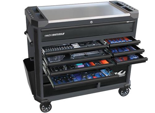 SP Tools Tech Series 268pc Metric Tech Tool Kit Diamond Black