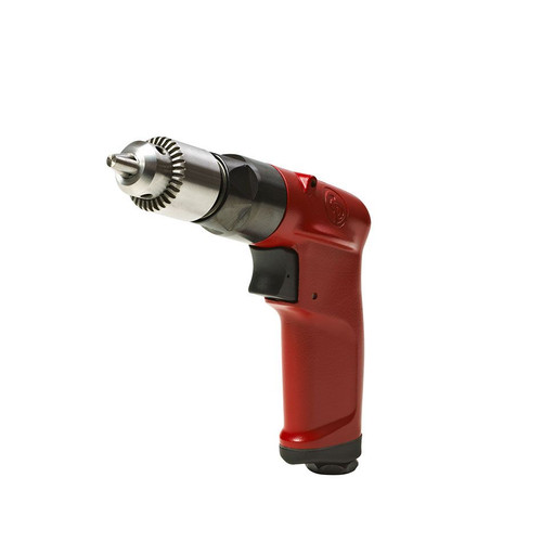 "Chicago Pneumatic Heavy Duty Air Drill 1/4"" (6mm) Industrial Keyed Chuck"