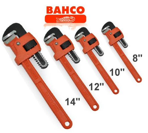 Bahco Pipe Wrench 4pce Bonus Pack. Trade quality!