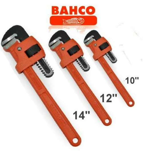 Bahco Pipe Wrench 3pce Bonus Pack. Trade quality!