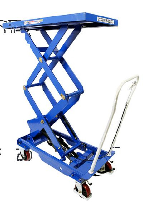 Tradequip High Lift Scissor Lift Workshop Trolley 500KG