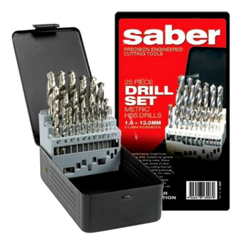 SABER TRADE MEGA AF HSS DRILL BIT SET