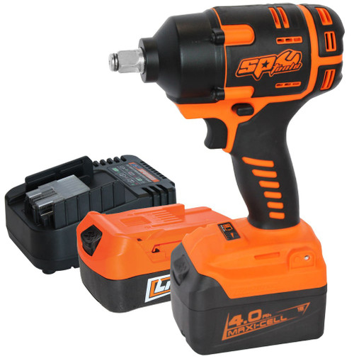"INCLUDES: 18v 1/2""Dr Impact Wrench 1x 18v 2.0Ah Battery Packs 1x 18v 4.0Ah Battery Packs 18v Charger"