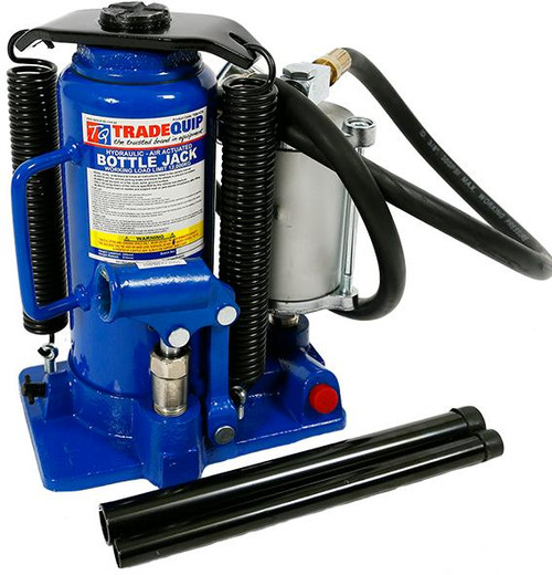 """Specifications:  Safe Working Capacity: 12,000kg Minimum Height: 260mm Maximum Height: 510mm Hydraulic Stroke: 170mm Screw Extension Height: 80mm Operating Air Pressure: 110-125psi Air Fitting: 1/4"""" Carton: 250x180x270mm Gross Weight: 12.75kg"""