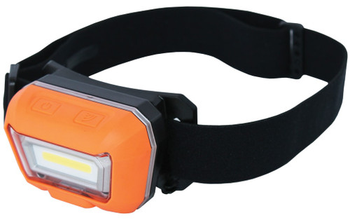 Easily turn the headlamp on and off by simply swiping your hand in a downward motion in front of the motion sensor. This allows you to quickly turn on the light when you need it and off when you don't.  Impact resistant Rechargeable Battery level and charge indicator Micro USB charging system Battery: 3.7v 1500mAH Battery type: Lithium-ion Charging time: 3 Hours MOTION SENSE ON/OFF Ultra bright 3w COB LED headlamp Brightness control - 2 settings Smart on/off motion sensor 45° tilt light for flexible light positioning Ultra lightweight design Adjustable headband with non-slip grip Dust & water resistant - IP65