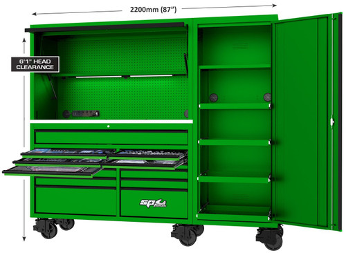 SP Tools 517Pce USA Sumo Series Workstation Toolkit Green. Hot Price!