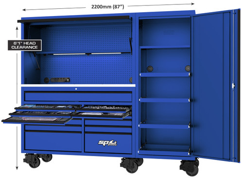 SP Tools 517Pce USA Sumo Series Workstation Toolkit Blue. Hot Price!