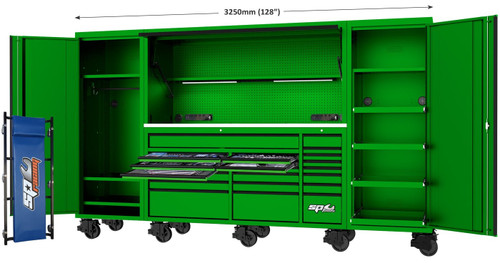 SP Tools 708Pce USA Super Sumo Mega Kit  Green