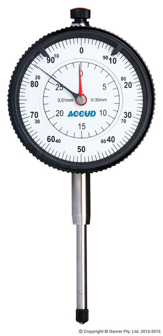 Accud 30mm Metric Dial Indicator