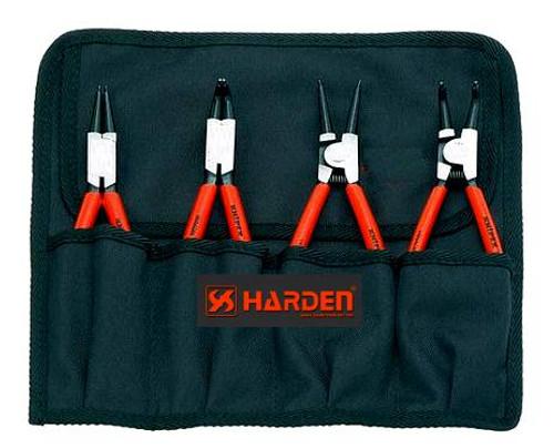 "Harden 4pce Internal  External Circlip Plier Set 7"""