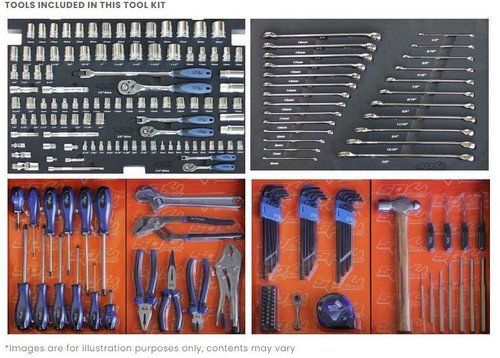 SP TOOLS 218pc Metric & SAE Custom Series Tool Kit Blue