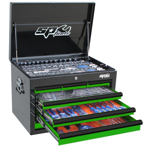 SP Tools 218pc MM/SAE Custom Series Tool Kit Green