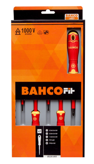 Bahco 5 Piece 1000v Screwdriver Set Hot Price!