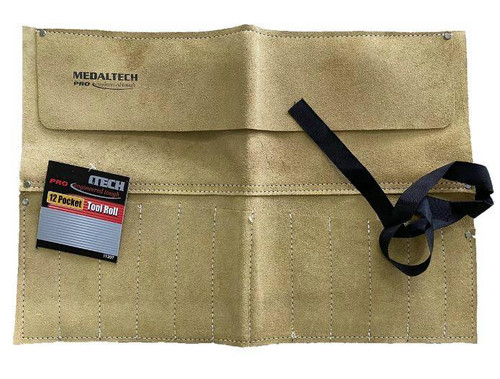 MedalTech 12 Pocket Leather Tool Roll Heavy Duty