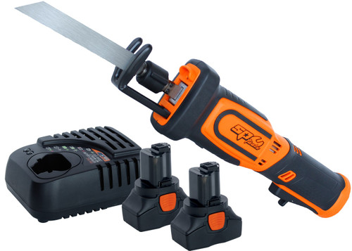 THE ULTIMATE IN CORDLESS TOOLS The new SP Max Drive power tool program has been developed to offer superior performance to automotive, industrial and trade applications. Each SP Max Drive tool offers the best componentry for longevity and durability for the life of the tool and are rated in real working torque for real performance with optimal size, weight and comfort.  SPECIFICATIONS: Platform: 16 Volt No-Load speed: 0-3000spm Stroke length: 14mm Fast cutting action up to 3000 strokes per minute 14mm stroke length maximising user productivity Ergonomic soft grip handle Variable speed trigger with safety paddle switch Adjustable blade depth support Quick-release blade holder - no tools required  INCLUDES: 16v Reciprocating Saw - Skin Only 2x 16v 2.0Ah Battery Packs 16v Charger