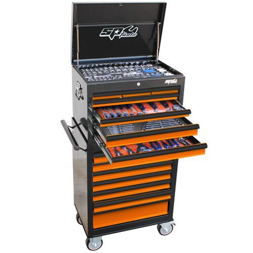 SP Tools 307pc Metric SAE Toolkit Orange